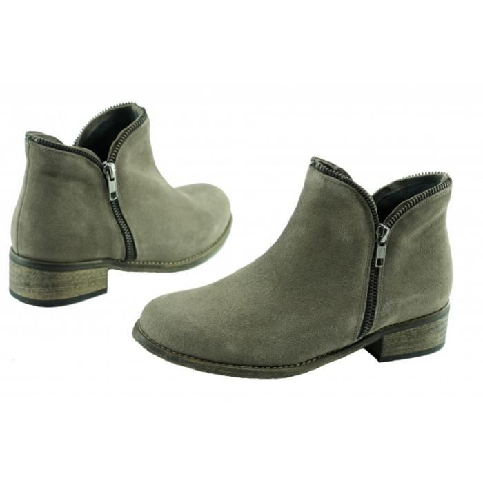 Genuine Leather Boots Cow Suede Winter Boots Square Heel Knee High Long Boots For Women QMPQ3 Taille-37 ZN5VYWeWUJ