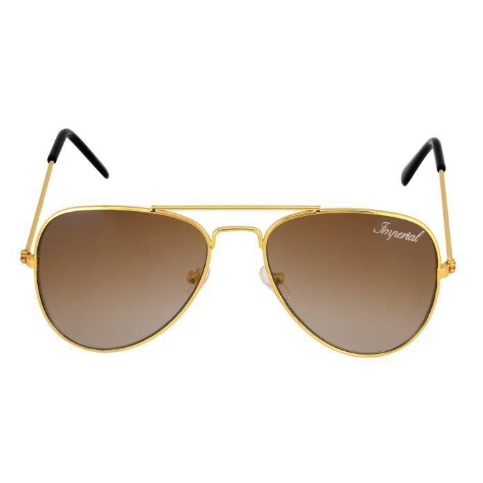 Unisexe classique brun-or Lunettes de soleil aviateur (wy015) Y4PI4