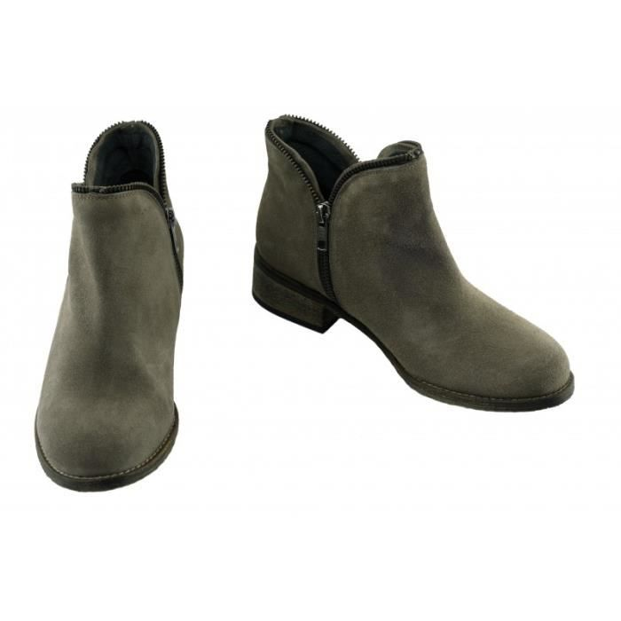 Boots double zips pour Femme - KETTY