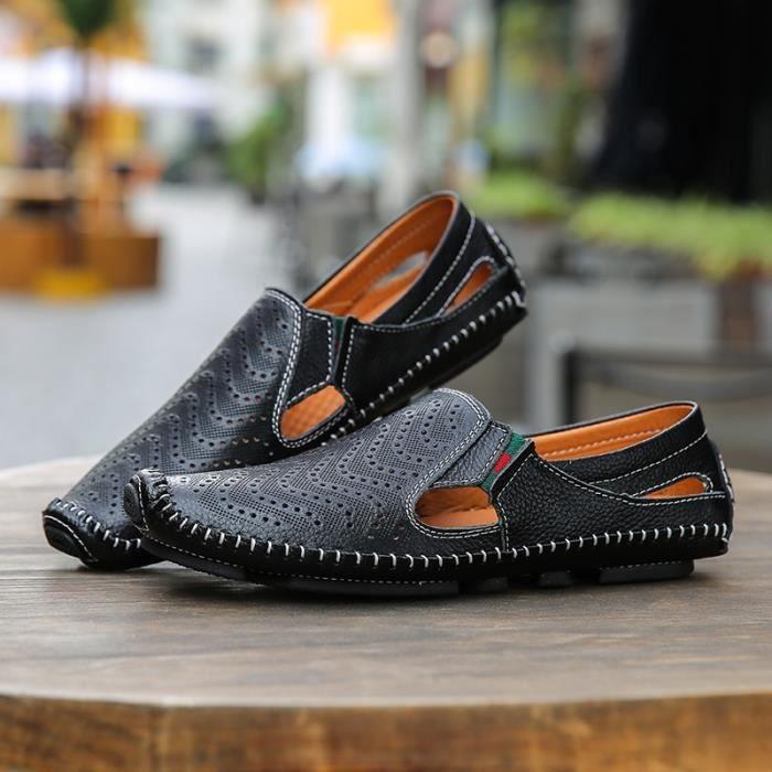 New Mode Hommes Chaussures Pois de mode Casual Chaussures en cuir suédé hommes Mocassins 3Y9MwCxvk5
