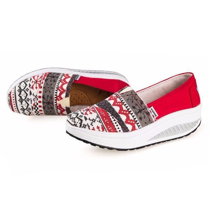 Chaussures Femme Printemps Été à fond épaiséChaussure BLKG-XZ064Marron36 VTNONYRGN