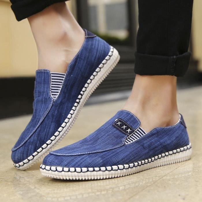 Mode homme Mocassins Respirant Chaussures de toile