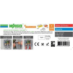 WAGO Seau 100 bornes - 2273 2-3-5 entrées