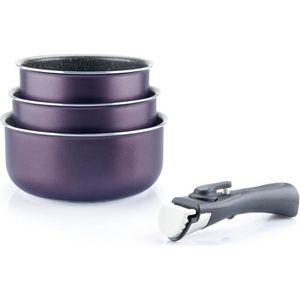CASSEROLE ARTHUR MARTIN Amovible set de 3 casseroles 16-18-2