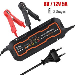 CHARGEUR DE BATTERIE 6V-12V 5A Chargeur de batterie automatique pour ge
