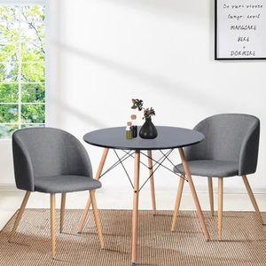 TABLE À MANGER SEULE Table à manger ronde cuisine 80cm 4 personnes plan