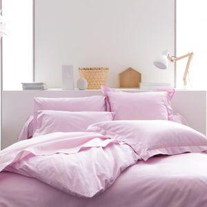 housse de couette unie 220x240 achat vente housse de couette unie 220x240 pas cher cdiscount. Black Bedroom Furniture Sets. Home Design Ideas