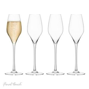 Coupe à Champagne Final Touch PACK OF 4 100% Lead-free Crystal Champ