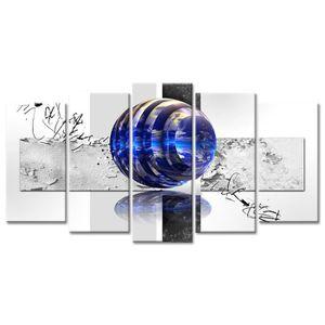 TABLEAU - TOILE Tableau Déco Abstrait Design Globes - 150x80 cm