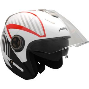 CASQUE MOTO SCOOTER Casque Jet Adulte ATRAX Airspeed - Noir
