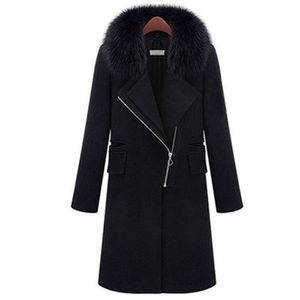 MANTEAU - CABAN Caban femme Hiver chaud Noir APFX-NZ3083