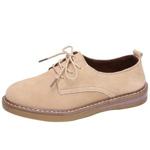 DERBY Femmes Sneakers Oxford Shoes Leather Suede Lace Up