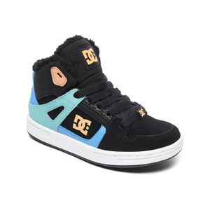 3ab66641efdd1 SKATESHOES Baskets montantes fille DC Pure - Sherpa Lined Noi ...