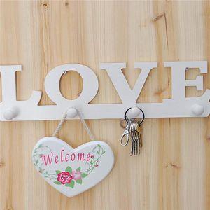 CROCHET - ANNEAU Crochet Forme LOVE Clé Serviette Support Mural à P