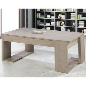 TABLE BASSE Table basse relevable Chêne clair - GUIZMO - L 110
