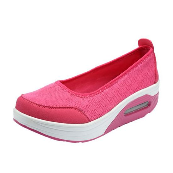 Mode féminine Plate-forme Chaussures Mesh respirant Chaussures Slip Secouer Chaussures Sport  Rose vif_XIE*6898  Rose vif - Achat / Vente slip-on