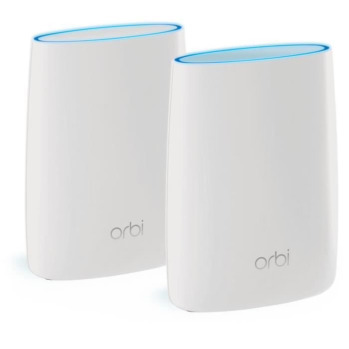 ORBI Système WiFi MultiRoom - RBK50-100PES Tri-Band AC6000 - Pack de 2 (1 Routeur et 1 Satellite)