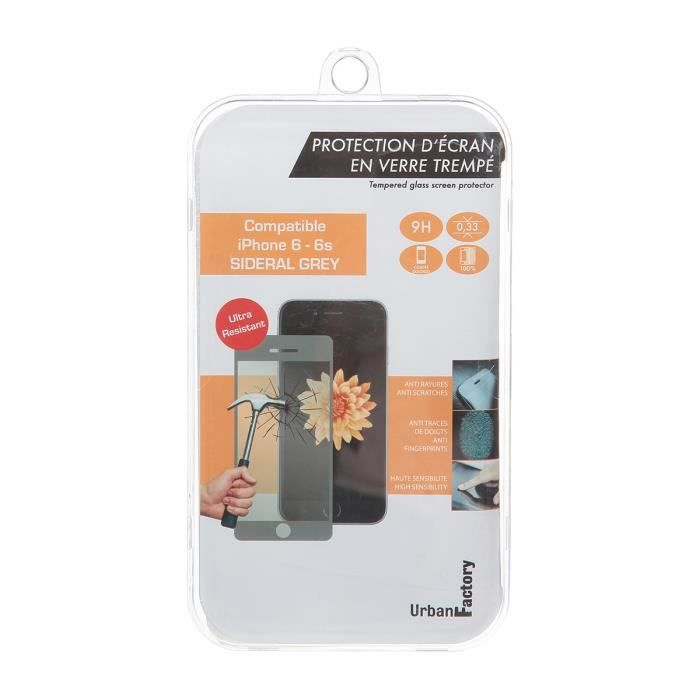Urban Factory Protection écran pour Iphone 6 / 6s Gris