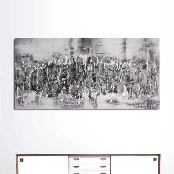 peinture contemporaine grise achat vente tableau. Black Bedroom Furniture Sets. Home Design Ideas