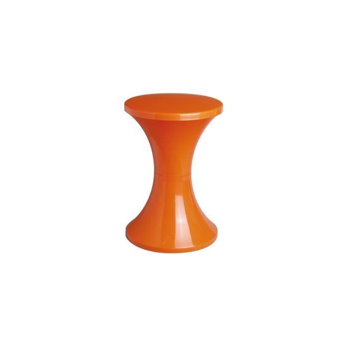 tabouret stamp tam tam pop orange achat vente tabouret cdiscount. Black Bedroom Furniture Sets. Home Design Ideas