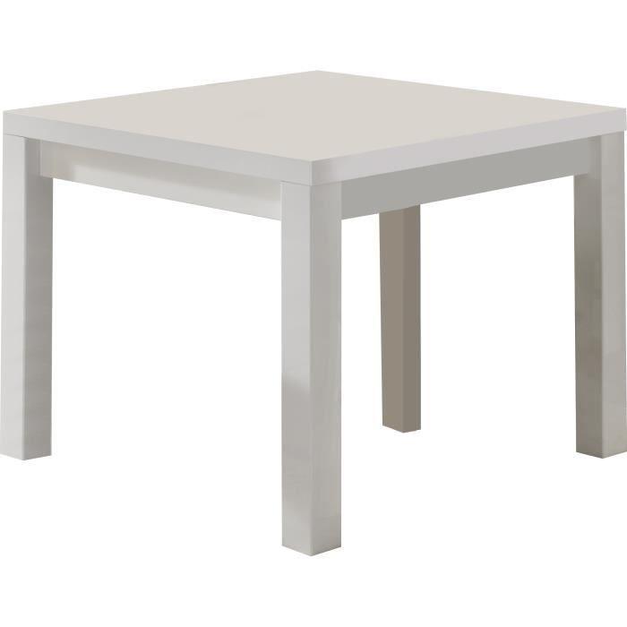 Table A Manger Blanc Laque Brillant De Forme Carree Achat Vente