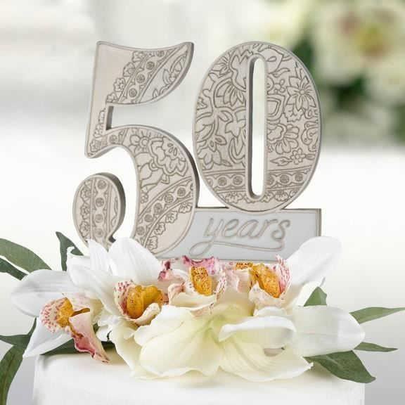 deco pour gateau 50 ans de mariage