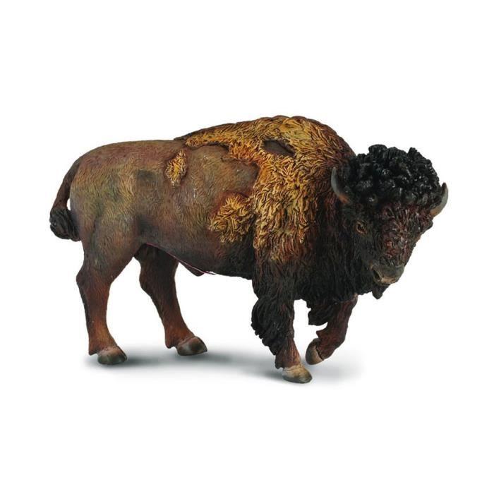 Figurine animaux sauvages bison d 39 am rique du nord achat vente figurine personnage - Coloriage bison d amerique ...