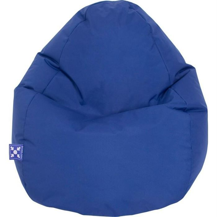 pouf jumbo bag scuba xxl bleu achat vente pouf poire cdiscount. Black Bedroom Furniture Sets. Home Design Ideas