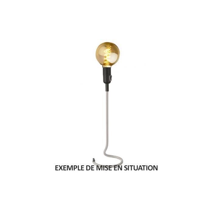 Lampe de salon sur pied en fil textile Gris Stand UP - Achat ...