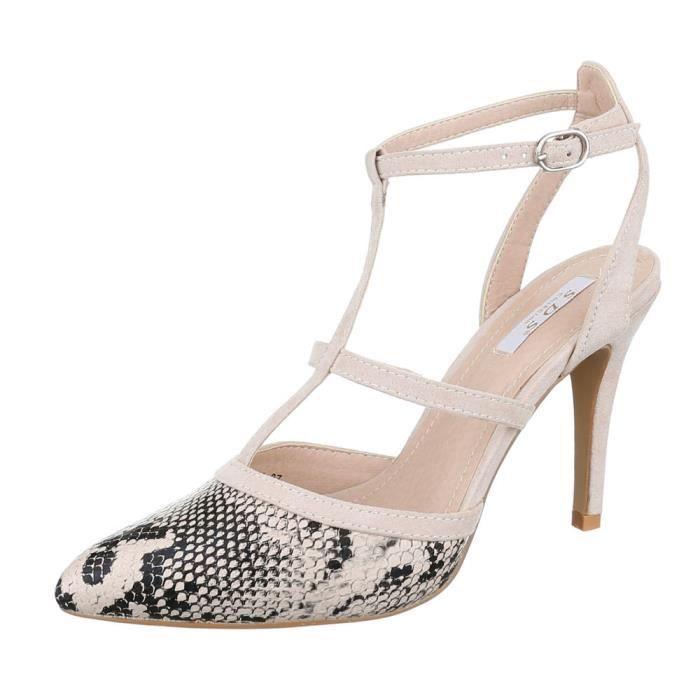femme sandalette chaussure High Heels escarpin noir