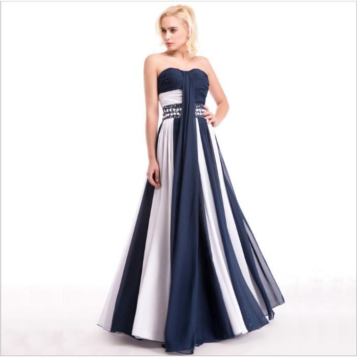 54febaf3203 Robe de soirée sans bretelles Robes de soiree en mousseline de soie longue  Robe de soirée Robe de bal de mariage