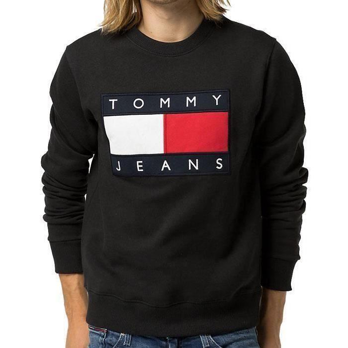 date de sortie style le plus récent faire les courses pour TOMMY HILFIGER Homme Sweat Noir NOIR - Achat / Vente ...
