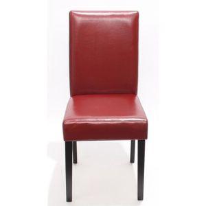 Chaise de salon rouge achat vente chaise de salon for Chaise salon cuir