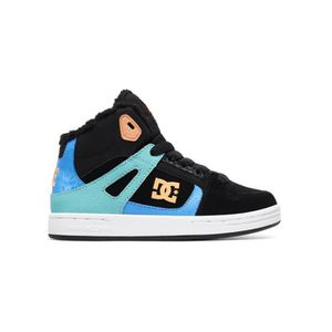 860713f806440 ... SKATESHOES Baskets montantes fille DC Pure - Sherpa Lined Noi ...