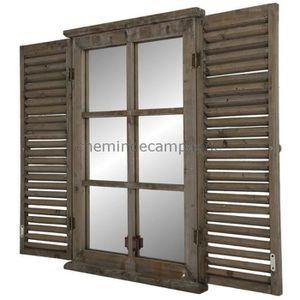 miroir bois recycle achat vente miroir bois recycle pas cher cdiscount. Black Bedroom Furniture Sets. Home Design Ideas