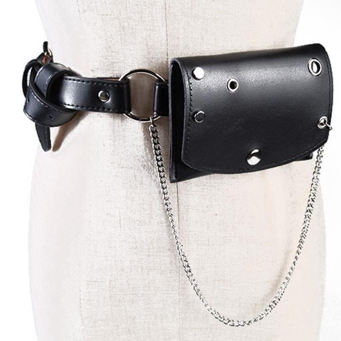 Packs Pack Ceinture Femmes En De Poche noir Multifonctions Mode Taille Des Feminine La Occasionnels A Sac Cuir 8wA0rR8q