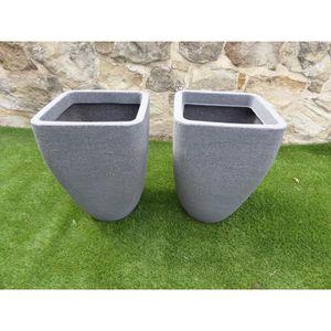 JARDINIÈRE - POT FLEUR  UK-Gardens Ensemble de 2 grands pots de jardinière