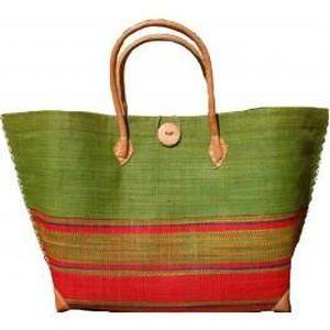 0e87ffe4a2 Sac cabas shopping en rabane vert Vert - Achat / Vente sac shopping ...