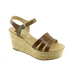 Compensées Femme Pour Chaussures Fabriqué – Y Bride Sandales Janina qxw1EvAR1