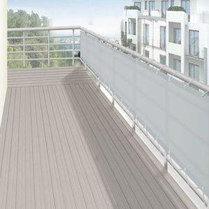 CLÔTURE - GRILLAGE Brise vue brise vent Balcon Gris Clair en polyeste