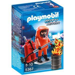 UNIVERS MINIATURE PLAYMOBIL 5367 Pompier avec Combinaison de Feu