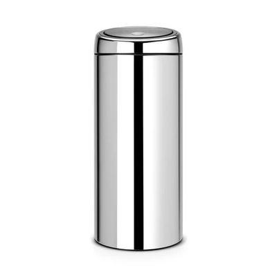 brabantia poubelle touch bin 30 l gris brillant - achat / vente