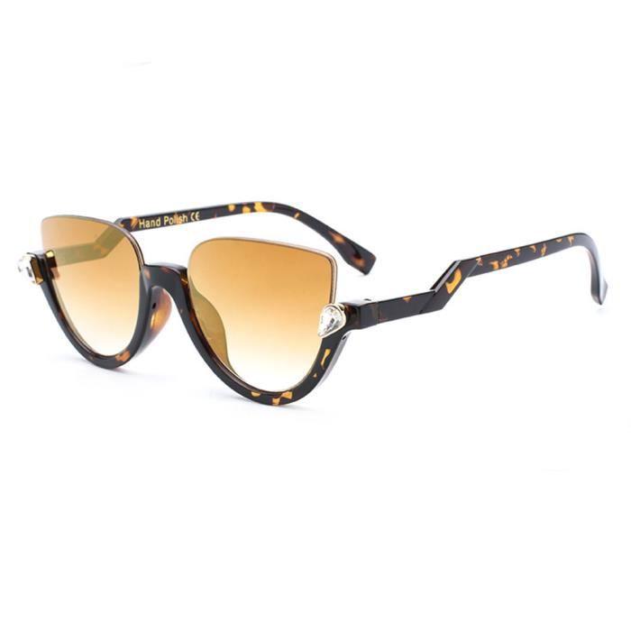 Lunettes de soleil femme marque de Luxe en Fashion Retro sunglasses Moderne Cadre Taupe/Marron