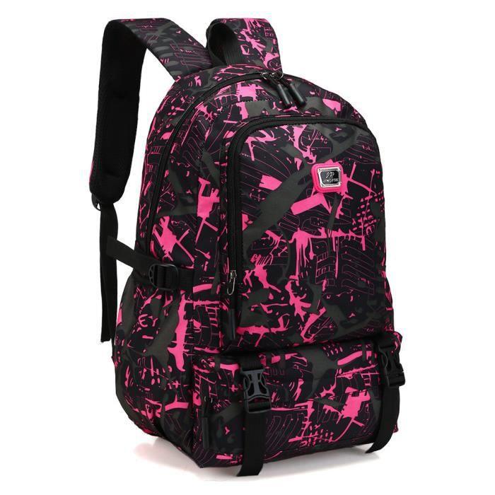 1cbd0b2af8 Estimetown®Neutre Impression sac à dos en Nylon École voyage étudiant pour  hommes@WTX4428334