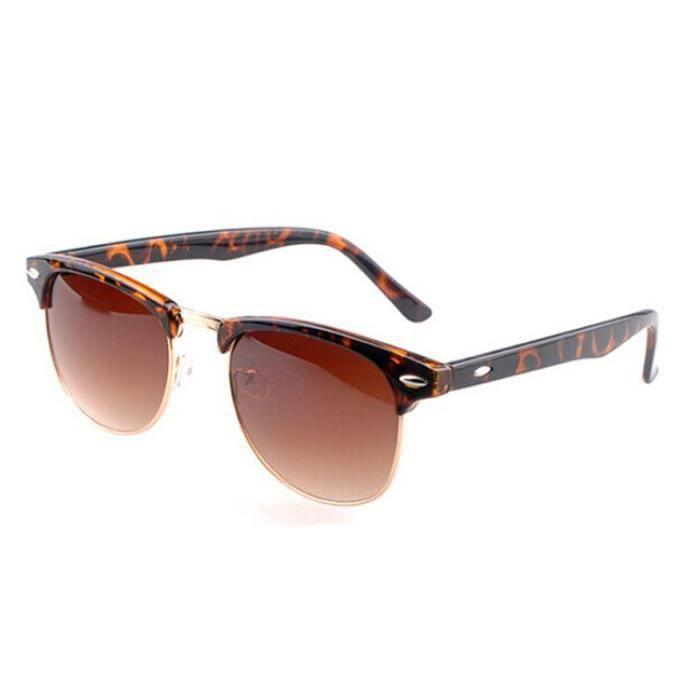 Retro designer de soleil Vintage surdimensionné Mens léopard lunettes Womens rArctZq