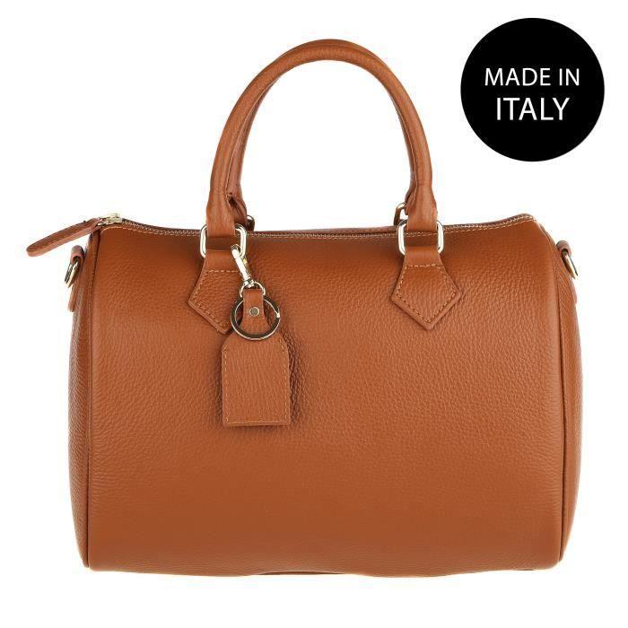 CHICCA BORSE Sac à Main pour Femme en cuir véritable made in Italy cuir 30x23x18 cm