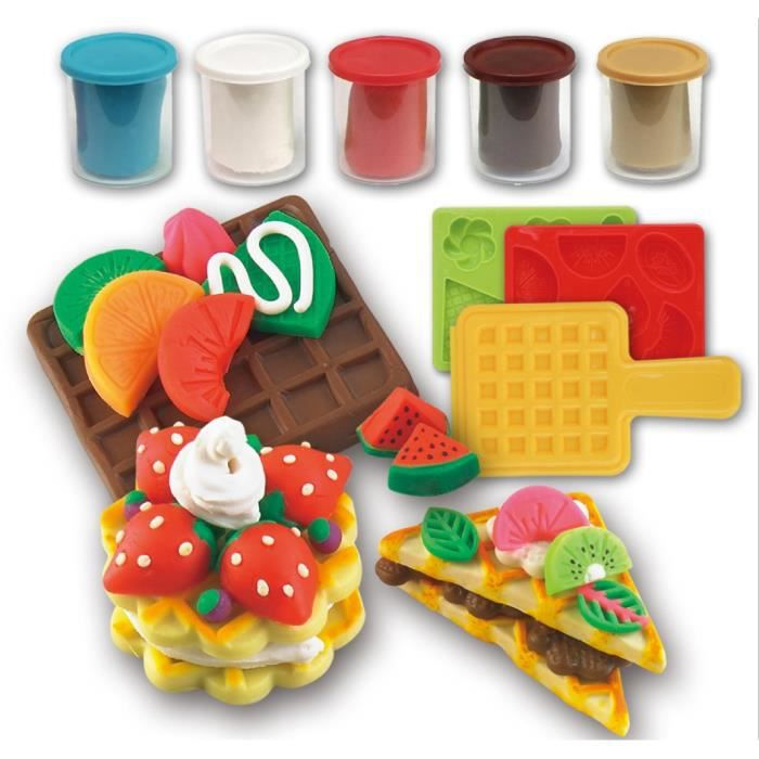 P te modeler argile plasticine gaufre die set les - Pate a modeler cuisine ...
