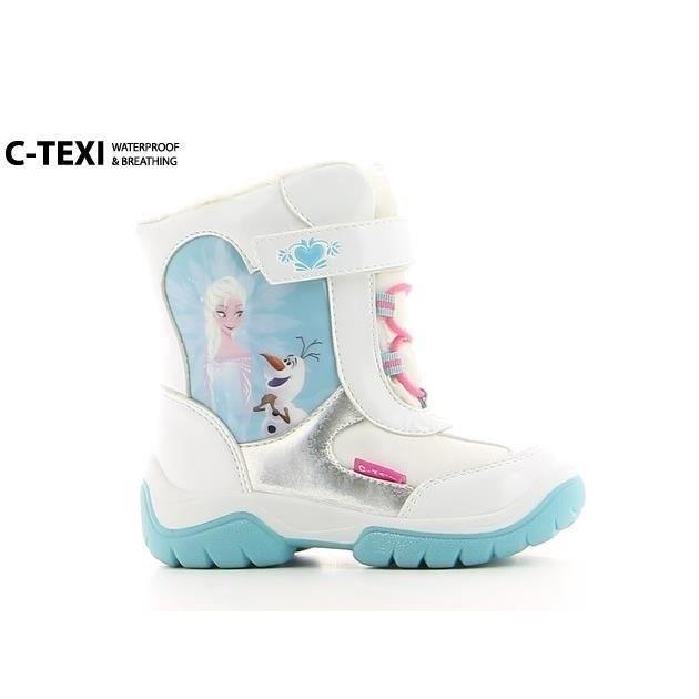 frozen la reine des neiges bottes de neige chaussures enfant fille blanc argent et bleu. Black Bedroom Furniture Sets. Home Design Ideas
