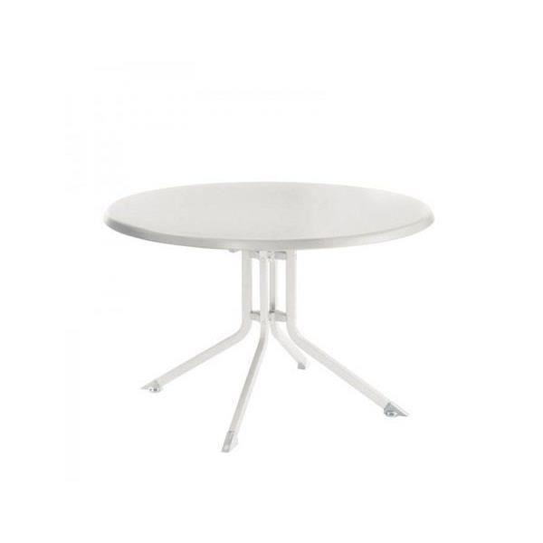 Table de jardin aluminium blanche - Achat / Vente pas cher