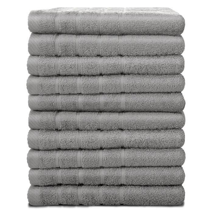 Lot de 10 serviette de bain - Achat / Vente pas cher